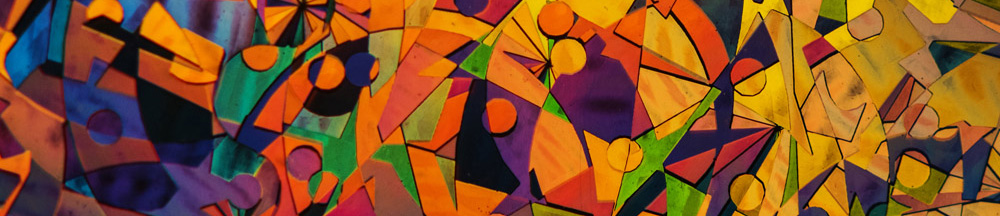 bright colorful geometric painting